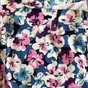 Uniqlo Jeans - EUC Flower Print Stretch Jeans